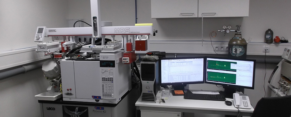 Gas chromatography with mass spectrometer